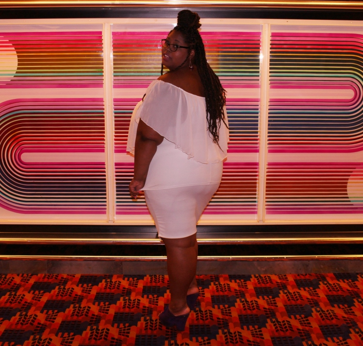 All white plus size