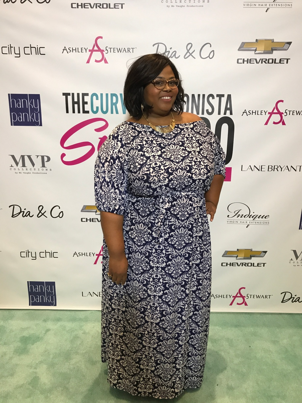 GCG me styles plus size rec carpet looks for the TCF Style Expo in Atlanta