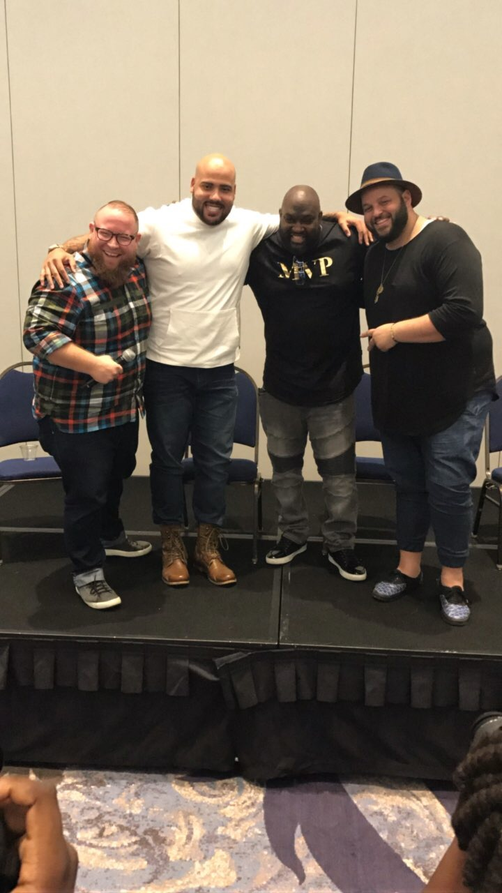 Plus SIze men panel at the TCF Style Expo