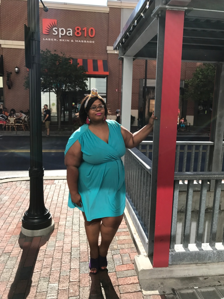 GCGme styles the Louisa dress in a size 4X for a smashing red carpet look at the Atlanta TCF Style Expo
