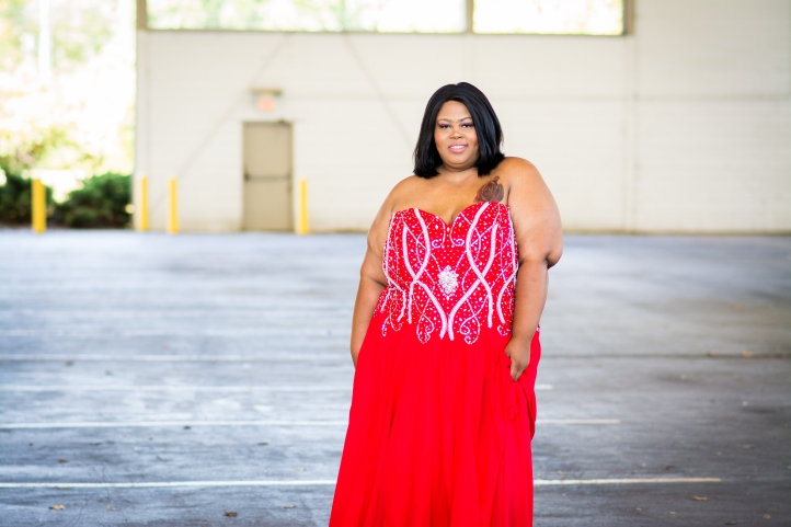 repurpose your plus size prom dress into a DIY halloween costume via http://finessecurves.com