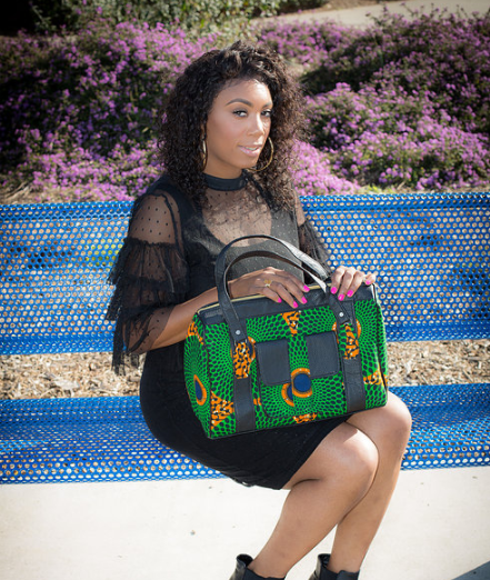 http://FInesseCurves.com features small business saturday spotlight on ankara designer Brittany Raji of beauty impact accessories, trips to Africa, African and Asian fabric, africana style