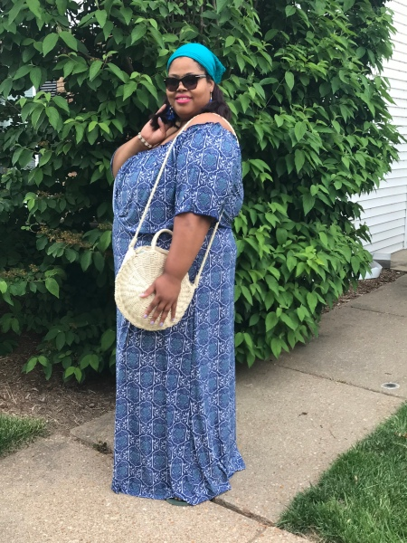 gcg me, summer cookout, summer dress, patriotic dress, holiday dress, plus size maxi, full length dress, resort wear, plus size resort wear, saint louis blogger, twilight tuesday, fair saint louis