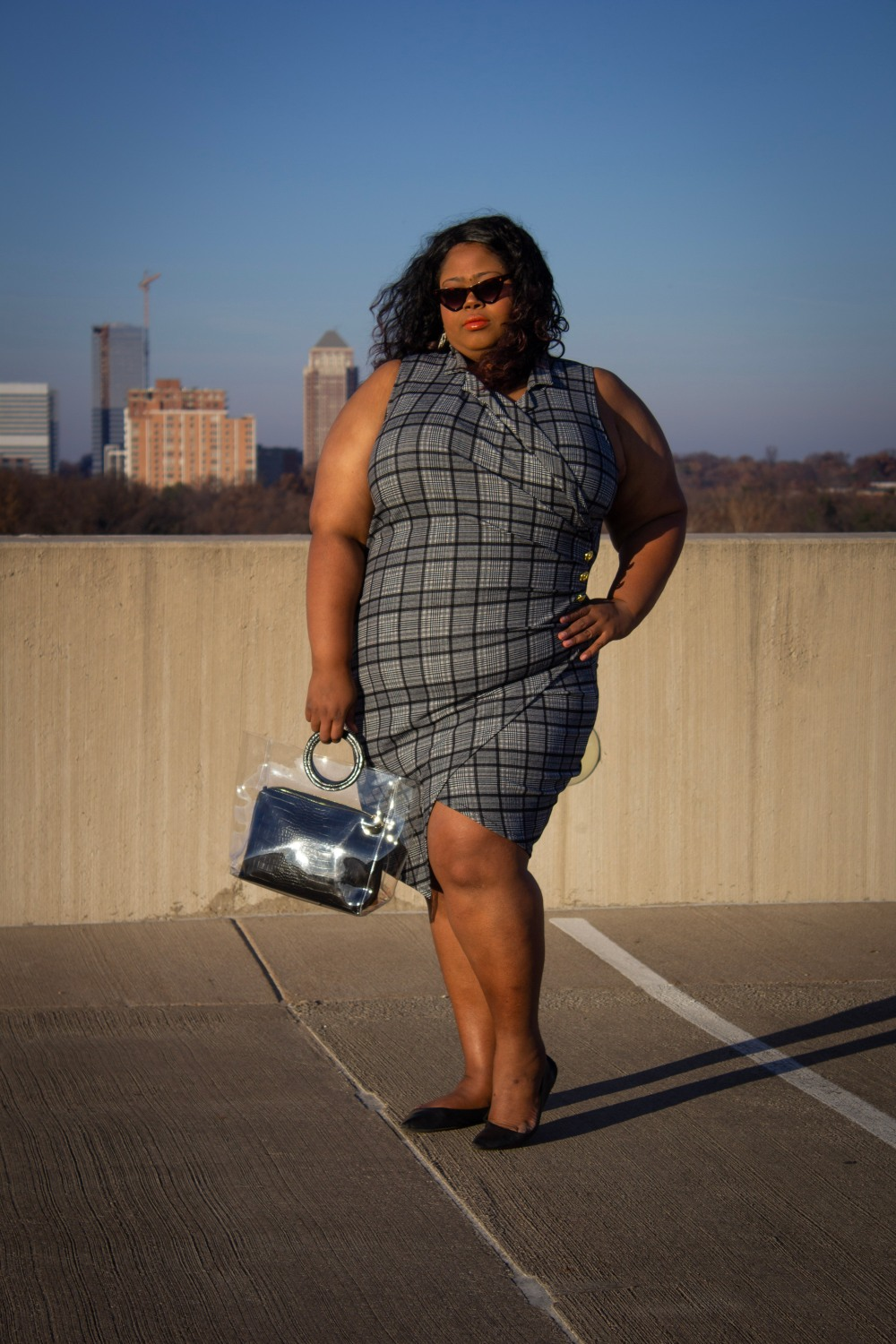 Plus size rooftop party http://finessecurves.com